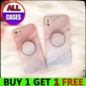NEW iPhone X/XS/7/8/Plus Marble Case W/Holder